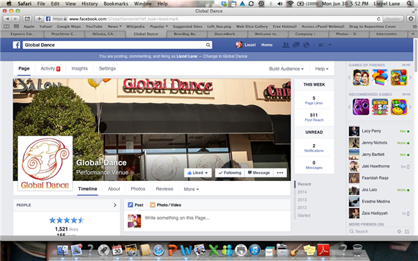 Global Dance Facebook