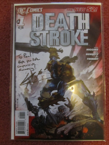 Deathstroke signed by Kyle Higgins on Paul Gale Network