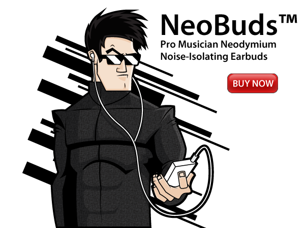 NeoBuds™ Pro Musician Neodymium Noise-Isolating Earbuds with In-Ear Headphones