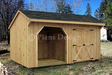 Combo Firewood And Storage Shed Plans Blueprints 8x16 Ft