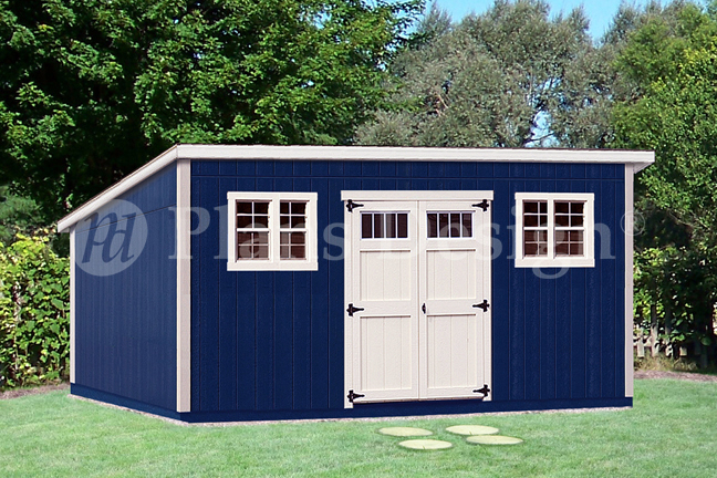 Details About 10 X 20 Deluxe Modern Backyard Storage Shed Plans D1020m Free Material List