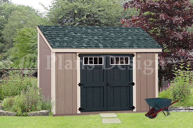 Details About Shed Plans 6 X 10 Deluxe Lean To Roof Style D0610l Free Material List