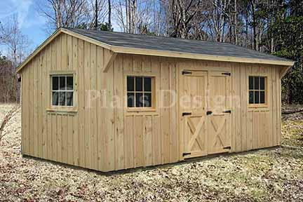 10 39 x 16 39 saltbox roof style storage shed plans 71016 for Saltbox garden shed plans