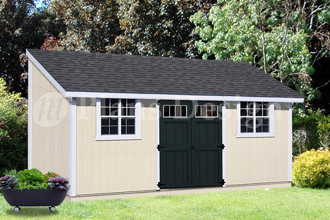 10' x 20' Outdoor Structure Building / Storage Shed Plans ...