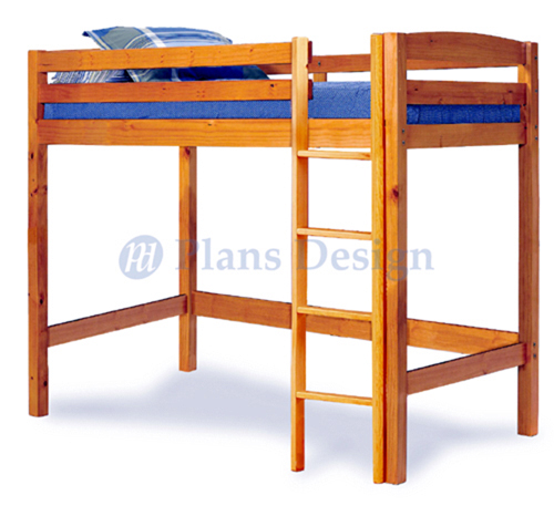 Details About Twin Loft Bunk Bed Woodworking Plans Design 1203 Cutting List Included