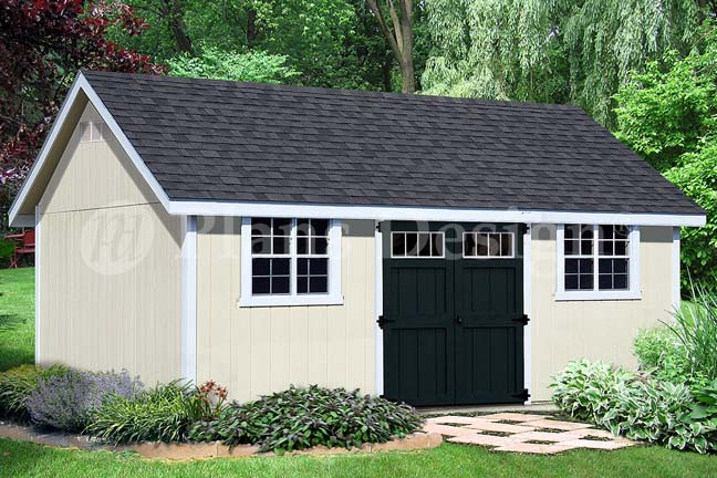 Details about How to build 14' x 20' Gable Roof Storage Shed #D1420G,  Material List Included