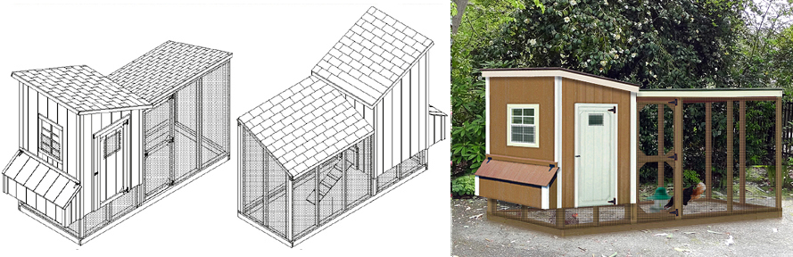 Chicken Coop With Lean To Kennel Two In One Combo Project