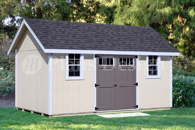 Details About Backyard Storage Shed Plans 12 X 16 Gable Roof D1216g Material List Included