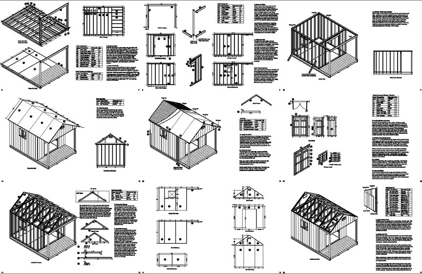 14 39 x 10 39 cabin loft backyard shed with porch plans for Shed plans and material list