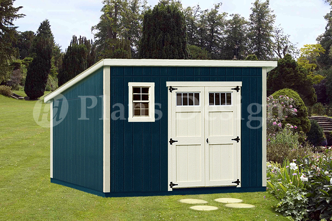 Shed plans 10 39 x 12 39 deluxe modern roof style d1012m for How to build a modern shed