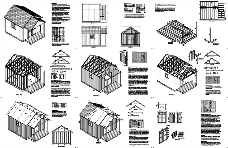 Koras easy to free 12 x 16 gambrel shed plans for Free shed design software with materials list