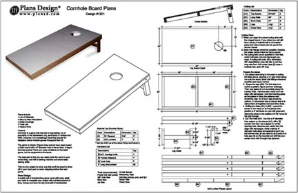 Build Your Own Cornhole Bag Toss Game Board Project Plans Ebay