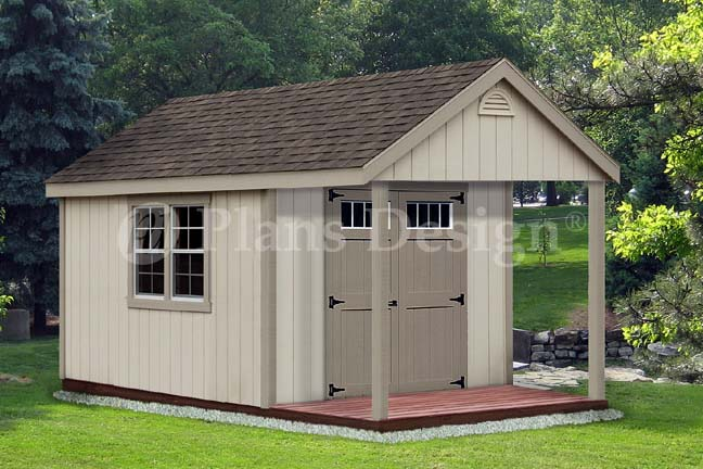 14 39 x 10 39 cabin loft backyard shed with porch plans for Free barn plans with loft