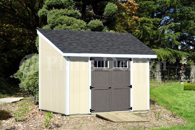 Details About 8 X 10 Deluxe Shed Plans Lean To D0810l Material List Instructions Drawing