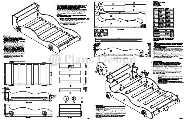 Children's Racing Car Twin Bed Woodworking Plans