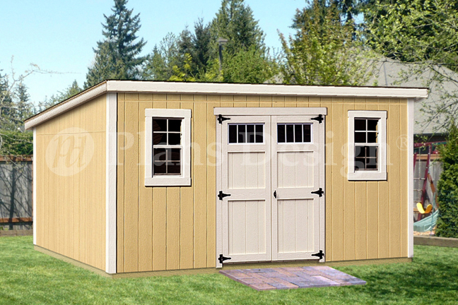 Details About 8 X 16 Deluxe Shed Plans Modern Roof Style D0816m Material List Included