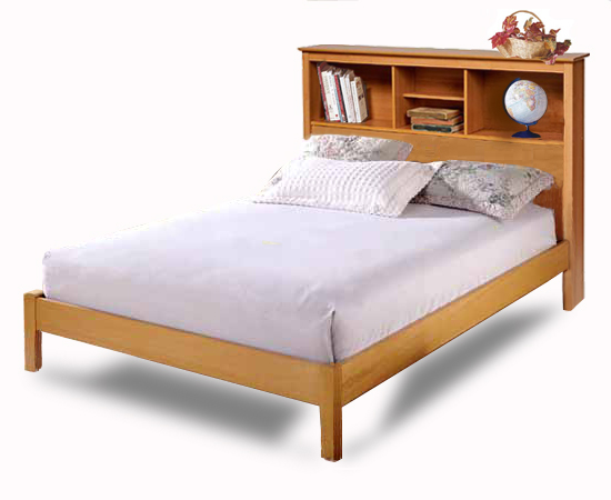 Twin and full bookcase headboard bed furniture woodworking for Bookshelf bed headboard