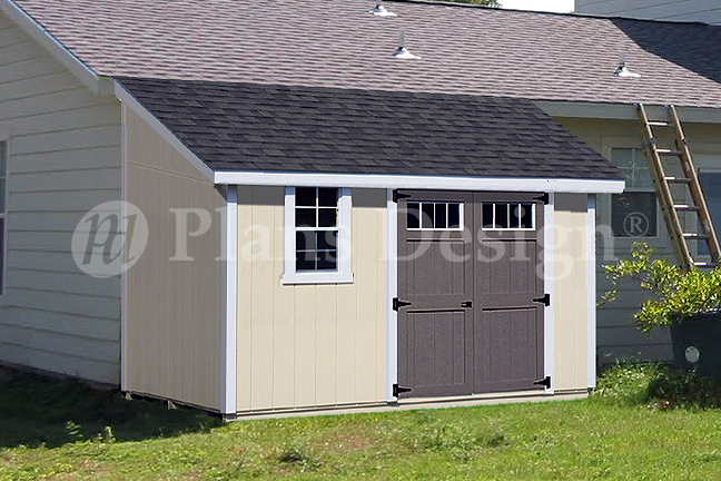 Details About 10 X 12 Classic Storage Shed Plans Lean To D1012l Material List Included