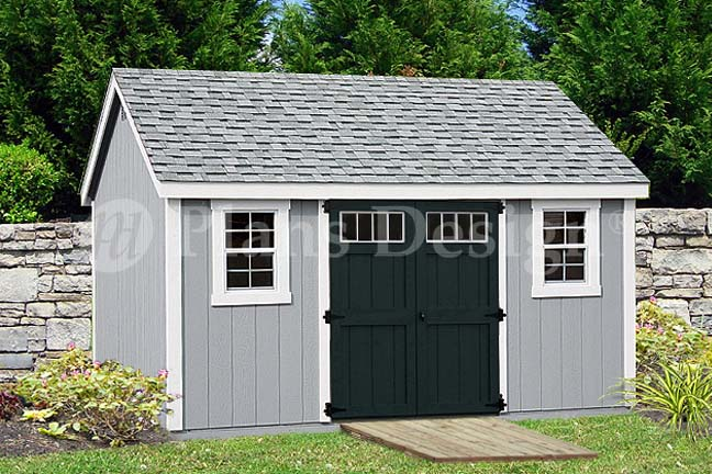 Garden storage shed plans 10 39 x 14 39 gable roof design for Shed material list