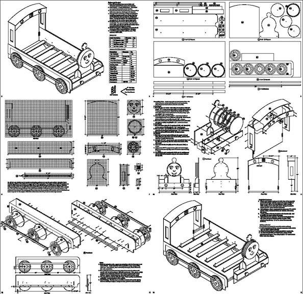 Thomas Train Engine Twin Bed Woodworking Project Plans, Do