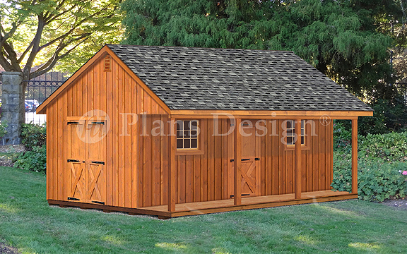 Details About 20 X 24 Shed With Covered Porch 480 Sq Ft Cabin Building Plans P52024