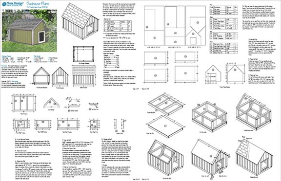 Large dog house plans gable roof style doghouse 90304g for Lean to dog house plans