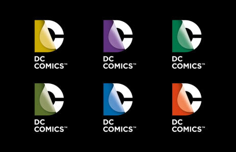 New DC Comics logo in multiple colors on Paul Gale Network