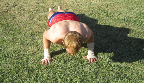 Military push-ups on Paul Gale Network