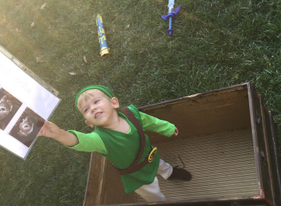 Bryson Paul Gale as Link from The Legend of Zelda: Breath of the Wild, finding out that he's going to be a big brother Part 13on Paul Gale Network