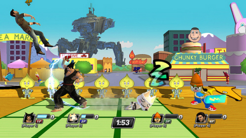 Dojo! stage from Parappa the Rapper in PlayStation All-Stars Battle Royale on Paul Gale Network