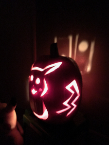 Pikachu from Pokemon Pumpkin for Halloween 2016 on Paul Gale Network