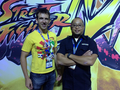 Street Fighter V talk at E3 2014 at Capcom's booth with Rey Jimenez on Paul Gale Network