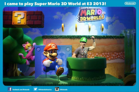 E3 2013 Super Mario 3D World at Nintendo's booth on Paul Gale Network