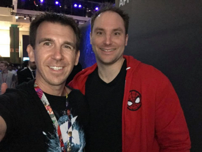 E3 2018: Bryan Intihar with a cool Spider-Man shirt and Paul Gale Network