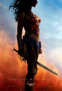 Wonder Woman movie poster on Paul Gale Network
