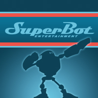 SuperBot Entertainment Robot Logo on Paul Gale Network