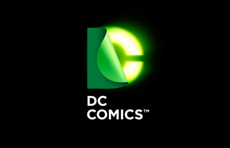 New DC Comics logo in bright green on Paul Gale Network