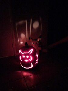 Pokemon Pikachu Pumpkin for Halloween 2016 on Paul Gale Network