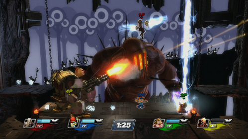 PlayStation All-Stars: Battle Royale gameplay screenshot on Paul Gale Network