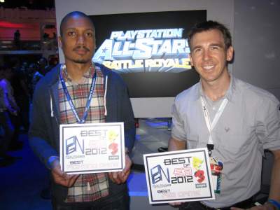 PlayStation All-Stars Battle Royale Omar Kendall from SuperBot Entertainment at E3 2012 on Paul Gale Network