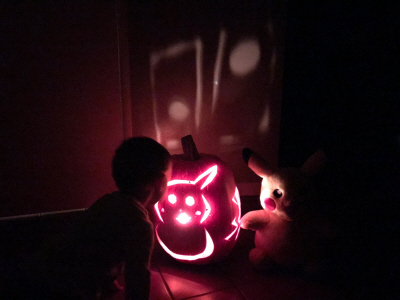 Bryson Paul Gale with Pikachu Pumpkin for Halloween 2016 on Paul Gale Network