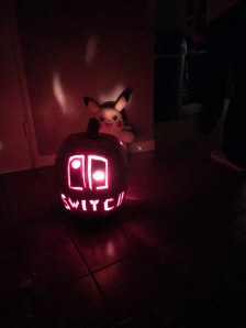 Nintendo Switch Pumpkin for Halloween 2016 on Paul Gale Network