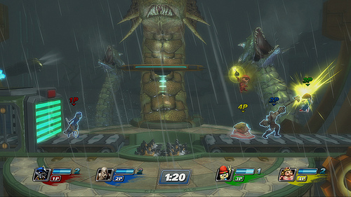 PlayStation All-Stars: Battle Royale gameplay screen grab on Paul Gale Network