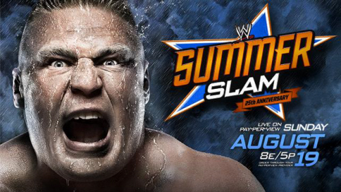 WWE SummerSlam Brock Lesnar poster on Paul Gale Network