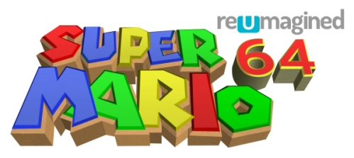 Wii U Super Mario 64 reUmagined logo exclusive on Paul Gale Network