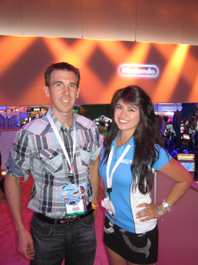 Paul Gale and Jackie Nintendo booth babe