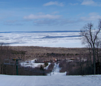 Ski lifts in the Porcupine Mountains