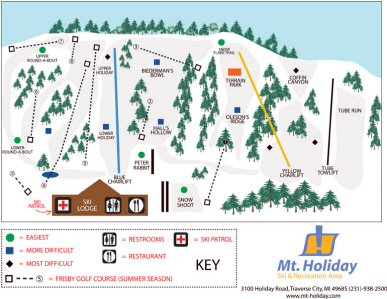 Mt. Holiday Ski Trail Map