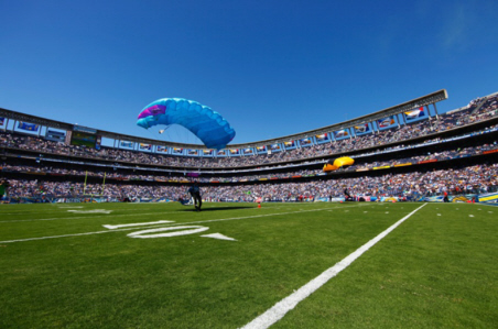 Skydive Phoenix Skydiving into San Diego Chargers Stadium