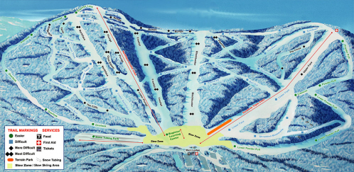 Plattekill Mountain Ski Trail Map
